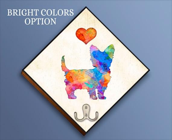 Custom Made Artwork by Dan Morris Leash collar storage hanger Personalize \u00a9Dan Morris Add Dog Name Dachshund Dog Breed Leash Hook