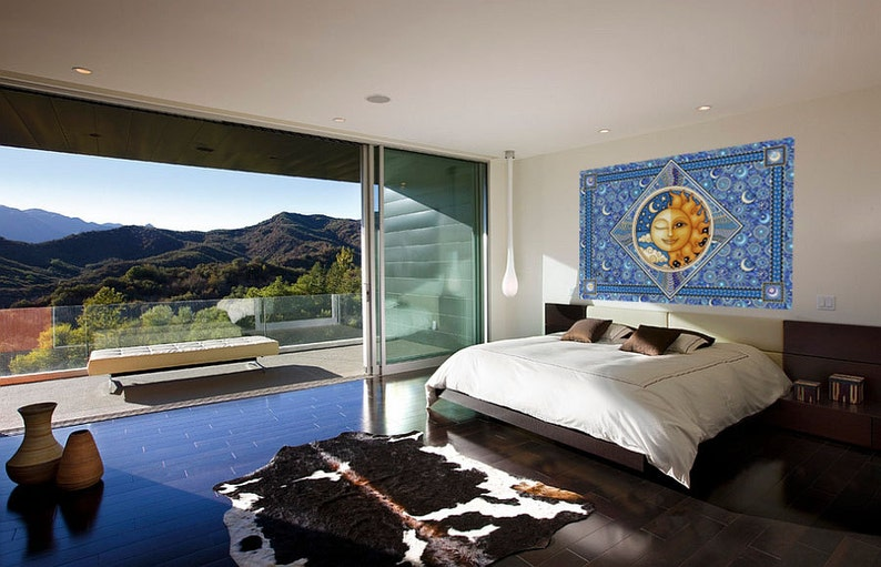 Sun Moon Hippie Tapestry by Dan Morris 40x60