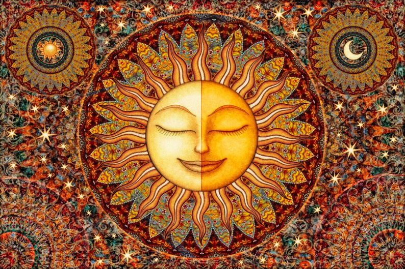 Tapestry Healing Sunshine Celestial Tapestry Wall Hanging by image 0