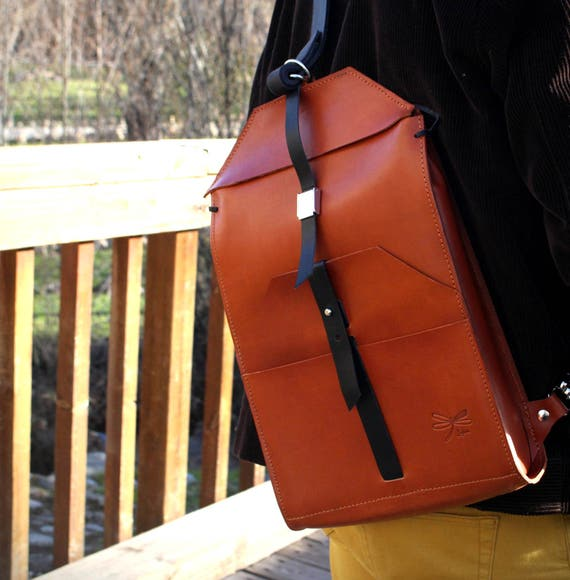 Men's Briefcase, Leather bag, leather backpack, Handmade Cross-body Bag. Men's bag Ludena, leather satchel.