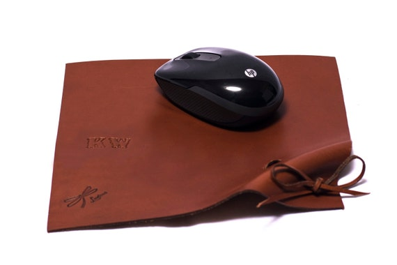 Leather Mousepad. Leather Mouse Pad, Leather Mat, Custom Leather Pad, Mens Woman's Gift, Handmade Leather Mousepad. Leather Roller mousepad.