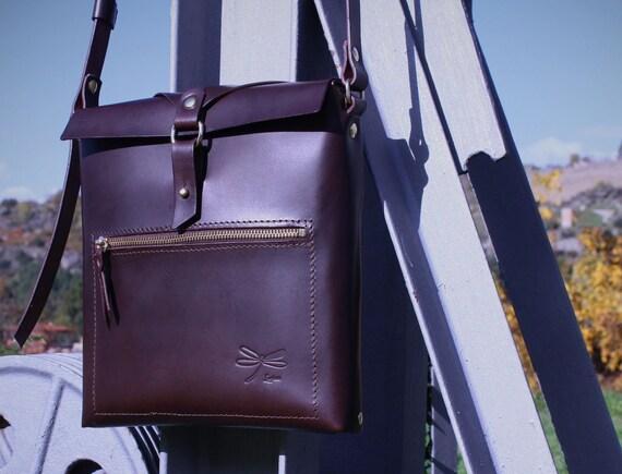 Leather bag for men,  ipad bag, tablet, designed by Ludena, leather shoulder bag.