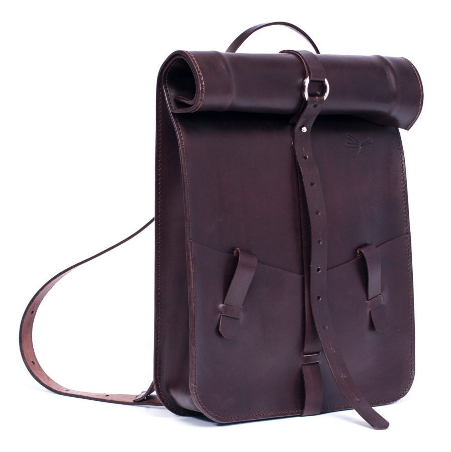 d34b9ae6743c Brown Leather Backpack- Fenix Toulouse Handball