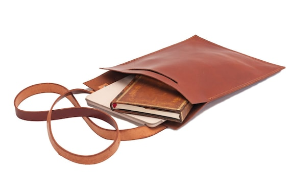 Leather bag, minimalist, plain and simple bag, Mac, iPad, books, notebooks, tablet, ect.