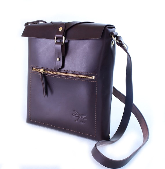 Leather bag for men,  ipad bag, tablet, designed by Ludena, leather shoulder bag.
