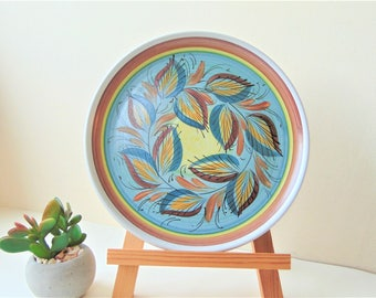 """Denby Glyn Colledge 8"""" Hand Painted Stoneware Plate Vintage Signed Collectable British Pottery Art Ceramics"""
