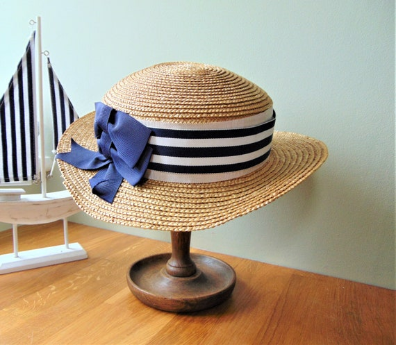 Laura Ashley Straw Boater