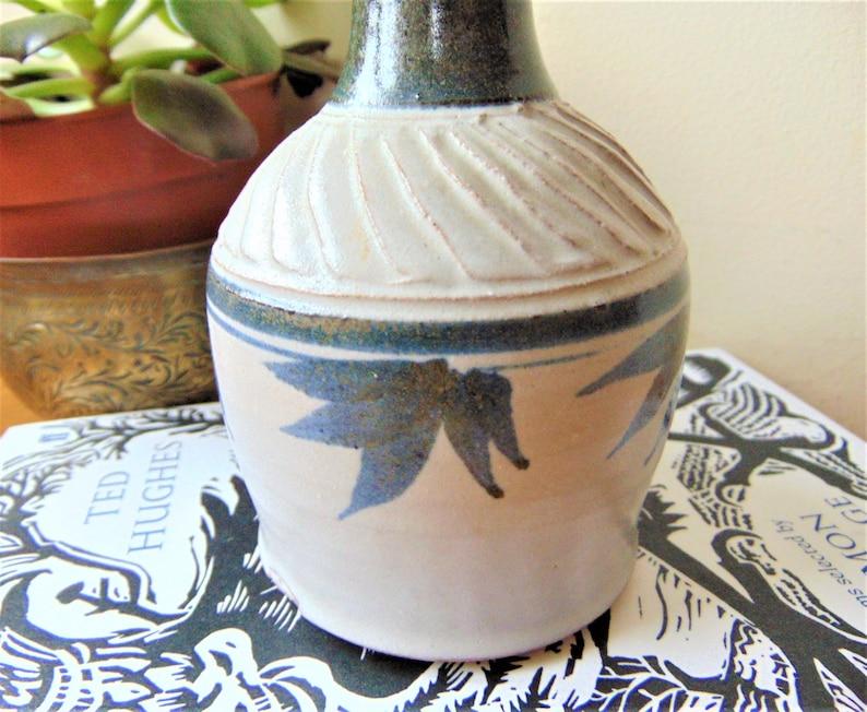 Nigel Graham Holmfirth Studio Pottery Stoneware Bottle Pot West Yorkshire UK Vintage Home Decor Accessories