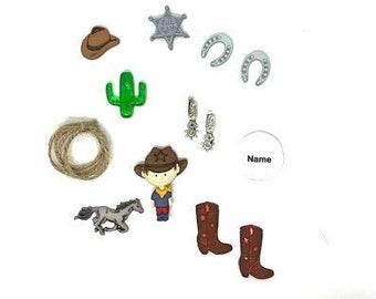 Antique Silver Cowboy Boot Push Pins Solid Metal 15 Piece Set
