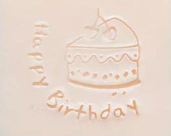 Cake soap stamp happy birthday cake mold Acrylic soap stamp