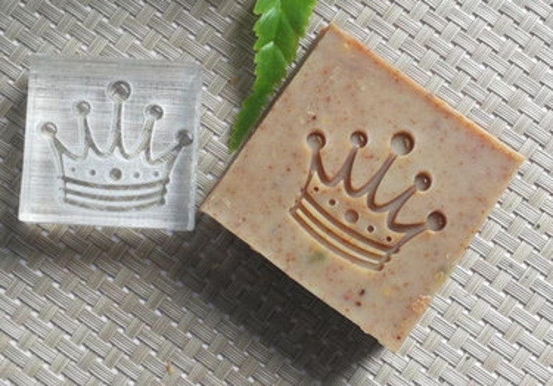 Crown Soap Stamp Royal Acrylic