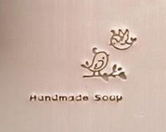Two Birds Soap Stamp Handmade Soap Stamp Love Stamp Soap Lovely Bird Soap Stamp
