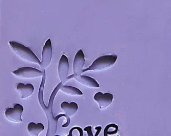 Love Soap Stamp Heart Soap Stamp Love Tree Soap Stamp Acrylic Stamp Wedding Soap Stamp