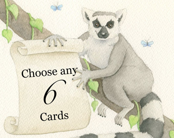 Greeting Cards, Your Choice of Any Six (6)