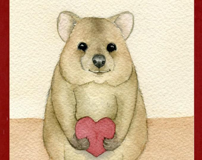 Valentine Quokka Love Greeting Card