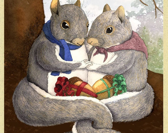 Squirrel Gifts Greeting Card