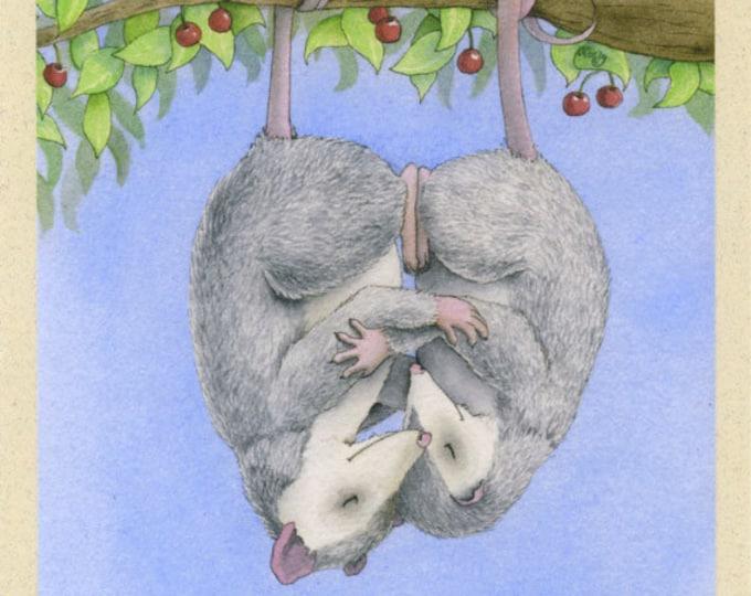 Oh! Possum Love Greeting Card