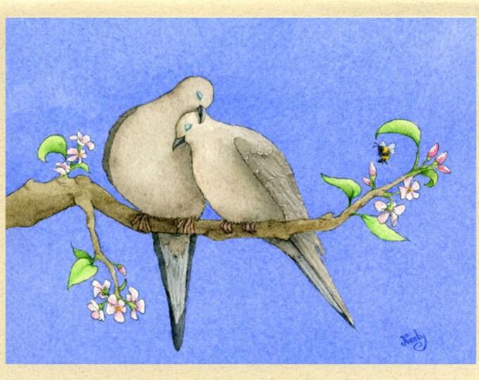 Doves in Love Greeting Card