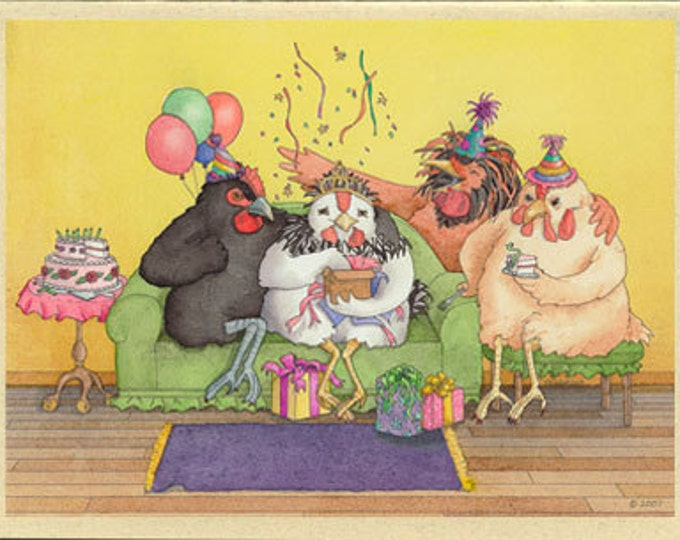 Chickens (Hen Party) Birthday Card