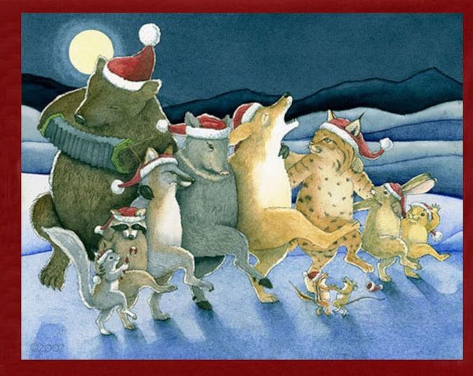 Christmas Chorus Line Christmas Card