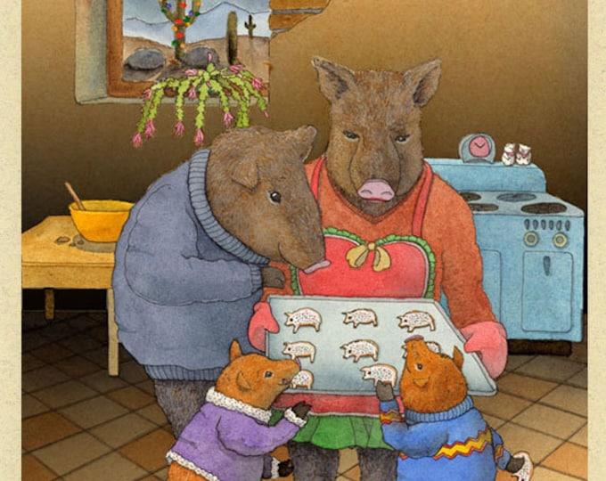 Javelina Cookies Christmas Card