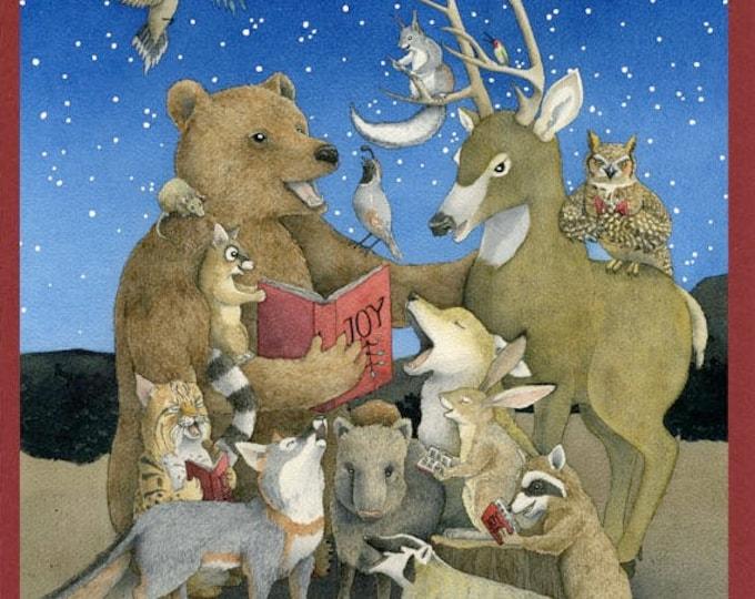 Southwest Animal Carolers (Joyful Noise) Christmas Card
