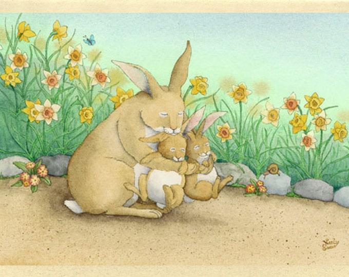 Rabbit Family (Cuddle Bunnies) Greeting Card