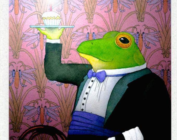 Birthday Frog Greeting Card