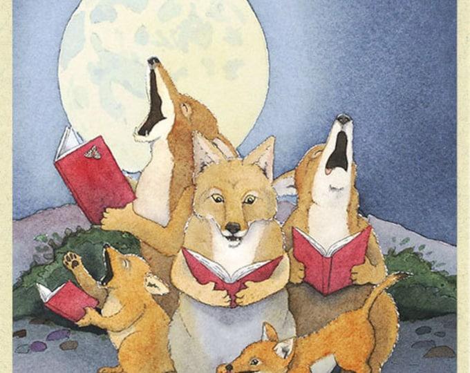 Coyote Carolers Christmas Card