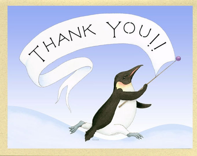 Pleased Penguin Thank You Card