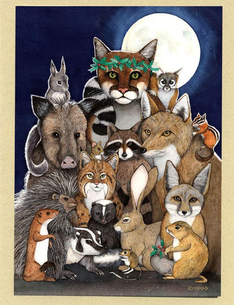 Peaceable Kingdom Southwestern Animals Greeting Card image 0