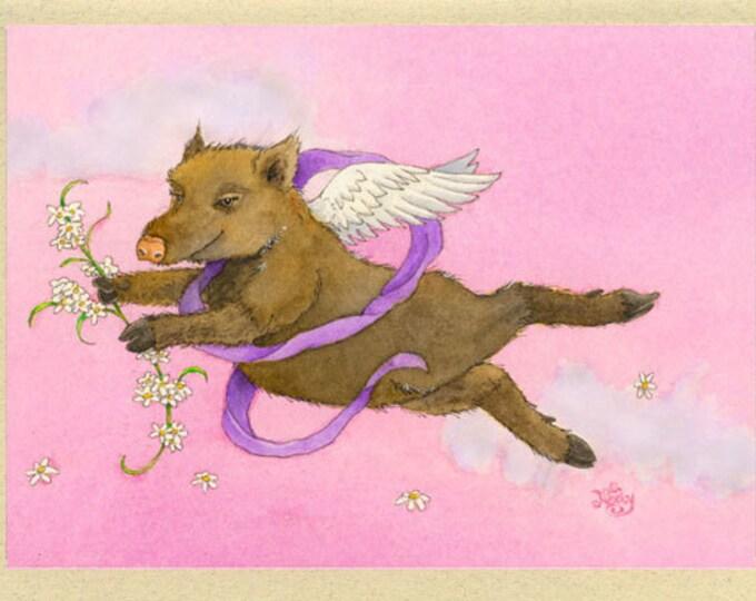 Javelina Valentina (Valentine) Greeting Card