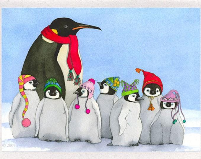 Penguins (Tiddely-Pom Penguins) Greeting Card