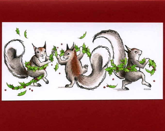 Squirrels (Three Graces-Winter) Christmas Card