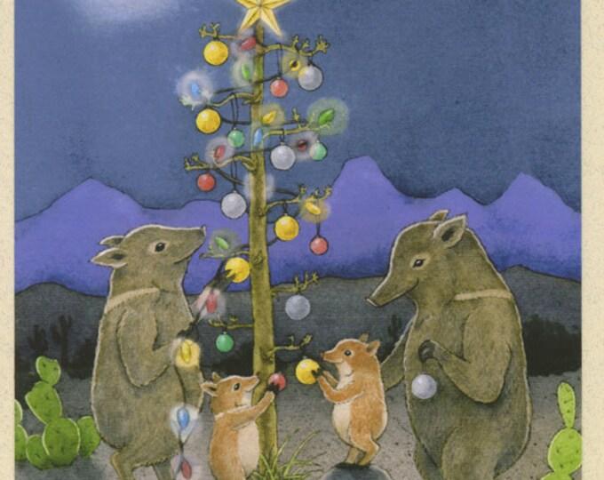 Javelina Holiday Christmas Card