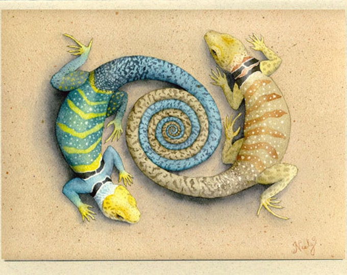 Lizards (Connectivity) Greeting Card