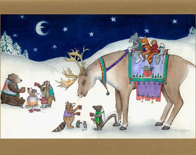 Woodland Animals (Cuppa Cocoa) Christmas Card
