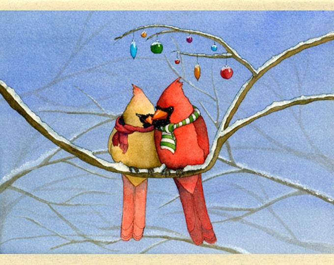Cardinal Christmas Card