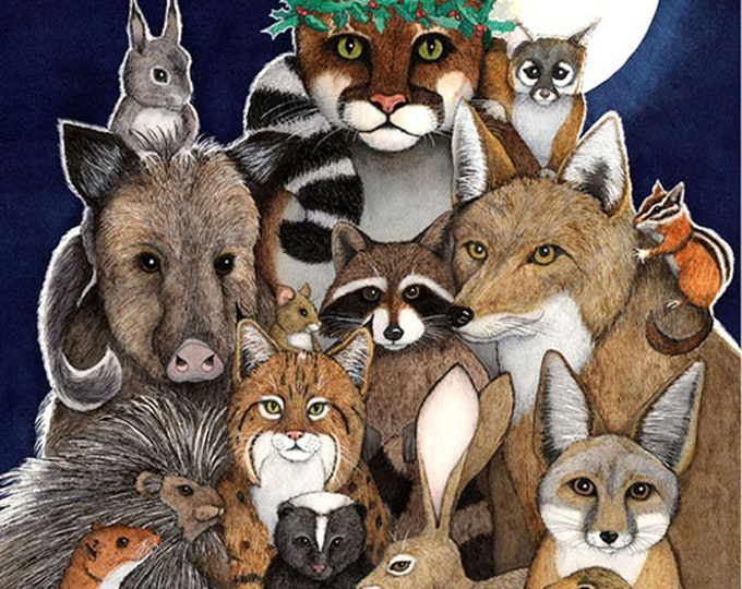 Peaceable Kingdom (Southwestern Animals) Matted Print