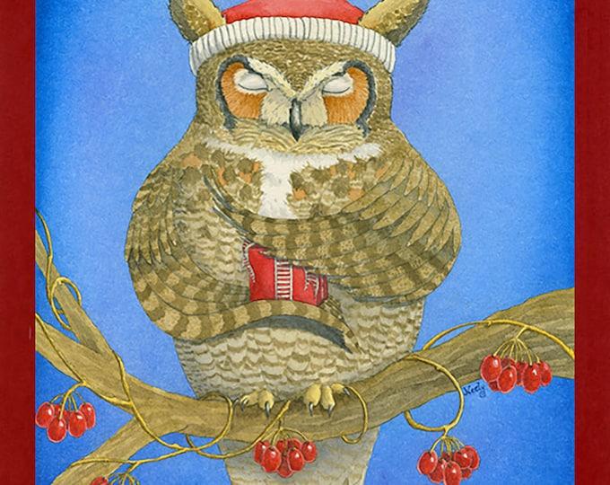 Great Horned Owl Christmas (Wonder-filled Christmas) Card