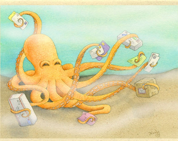 Octopus Mail (Octopost) Greeting Card
