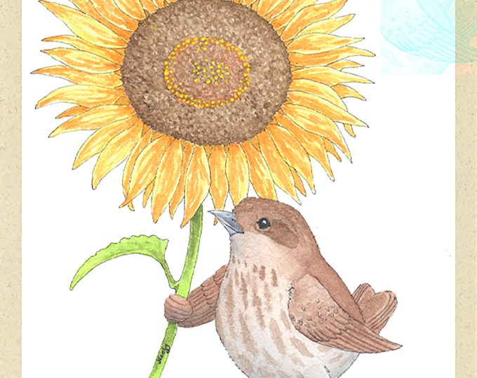 Bird and Sunflower (Elle Beebee)