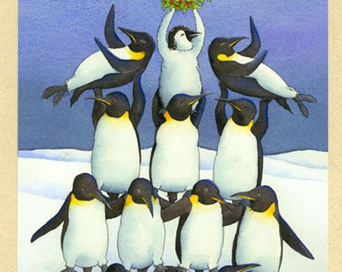 Penguin Pyramid Christmas Card