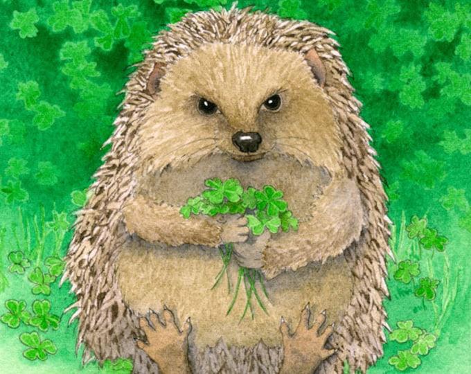 Lucky Hedgehog Matted Print