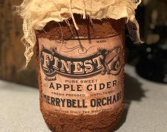 Grubby Apple Cider jar