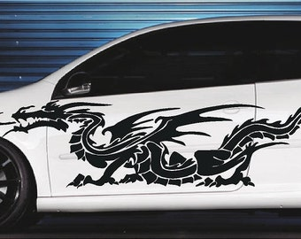Demon Angel Hood Full Color Graphics Wrap Decal Vinyl Sticker Fit any Car #214