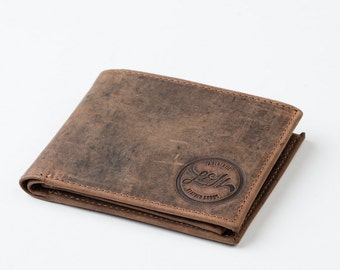 MENS WALLET with COIN pocket holder (tan) - leather / gents wallet, gift, anniversary, groomsman, wedding