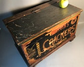 c1890 Nabisco Marvin s Crackers Wood Box Advertising Crate National Biscuit Co.