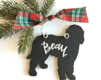 goldendoodle labradoodle personalized ornament