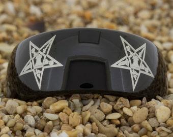 9mm Dome-Tungsten Masonic, Mens Tungsten Wedding Band, Black Tungsten Ring, Tungsten Carbide Ring, Engagement Ring, Free Inside Engraving